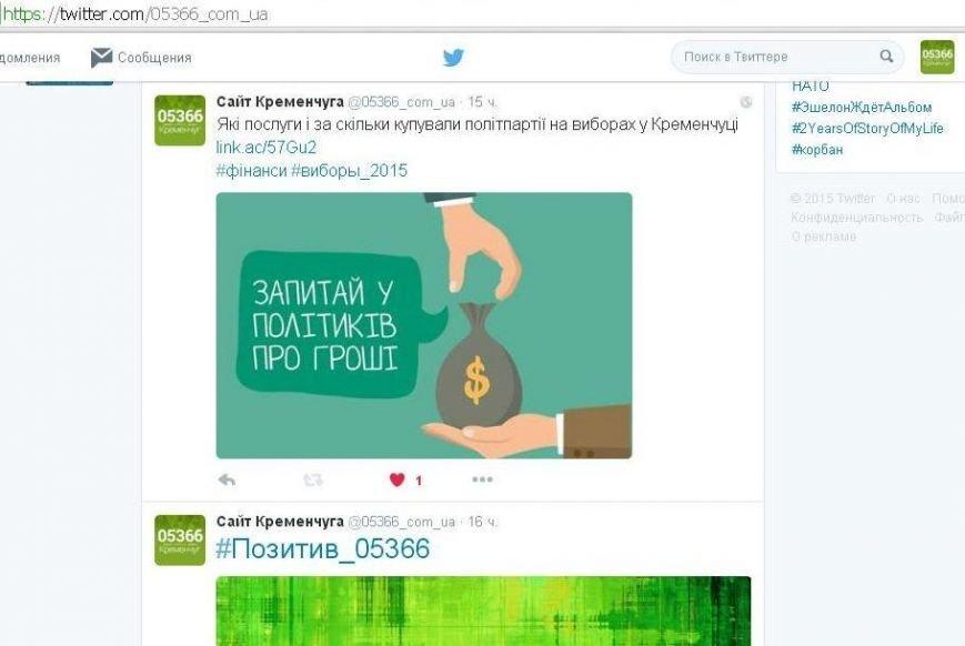 Лови нас у Twitter: новини від команди 05366.com.ua з'явилися у мікроблогах (фото) - фото 1