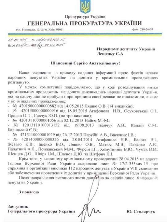 Полтавські нардепи не з'являються на допит в Генпрокуратуру, фото-1