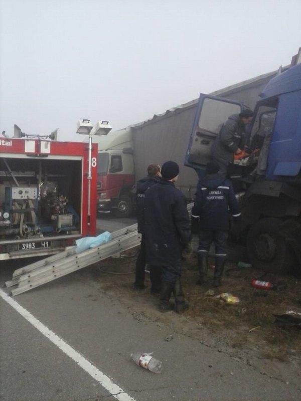 На Днепропетровщине из-за тумана столкнулись пять авто, фото-1
