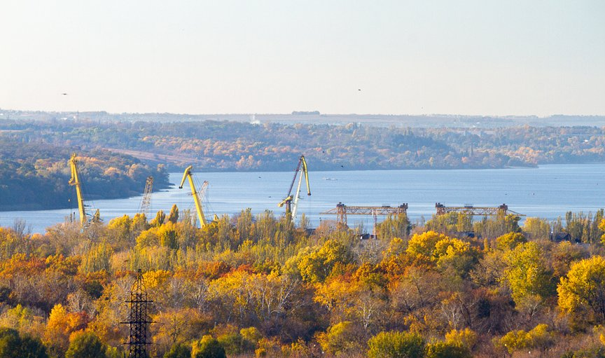 ФОТОПРОЕКТ: Осеннее Запорожье, вид с элеватора (фото) - фото 10