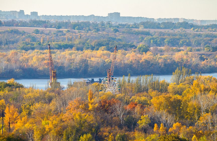ФОТОПРОЕКТ: Осеннее Запорожье, вид с элеватора (фото) - фото 4