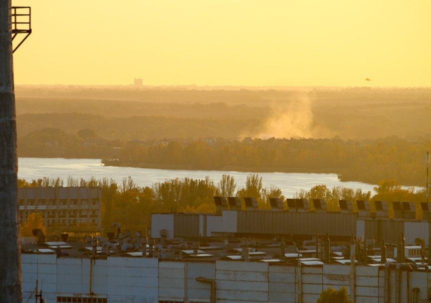 ФОТОПРОЕКТ: Осеннее Запорожье, вид с элеватора (фото) - фото 14