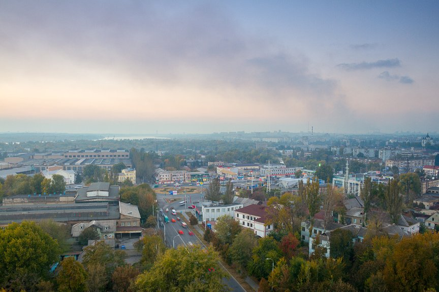 ФОТОПРОЕКТ: Осеннее Запорожье, вид с элеватора (фото) - фото 1