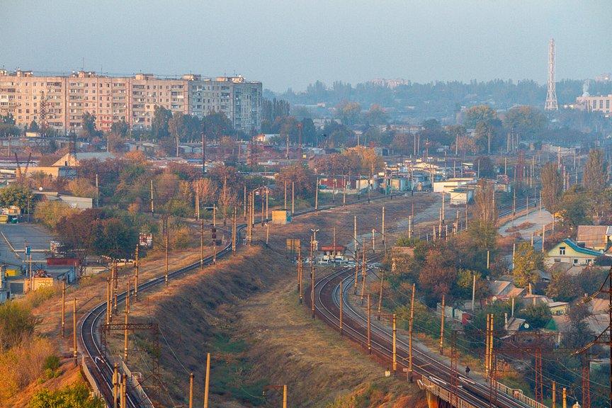 ФОТОПРОЕКТ: Осеннее Запорожье, вид с элеватора (фото) - фото 13