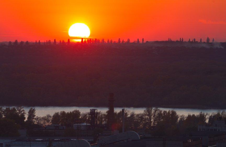 ФОТОПРОЕКТ: Осеннее Запорожье, вид с элеватора (фото) - фото 17