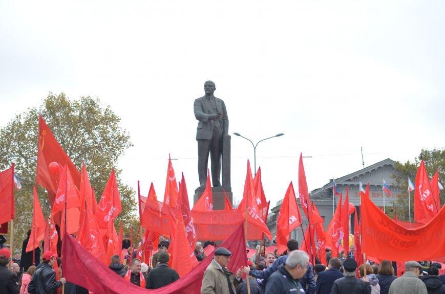 Массовым шествием и митингом в центре Симферополя отпраздновали крымские коммунисты годовщину Октябрьской революции (ФОТОРЕПОРТАЖ, ВИДЕО), фото-7