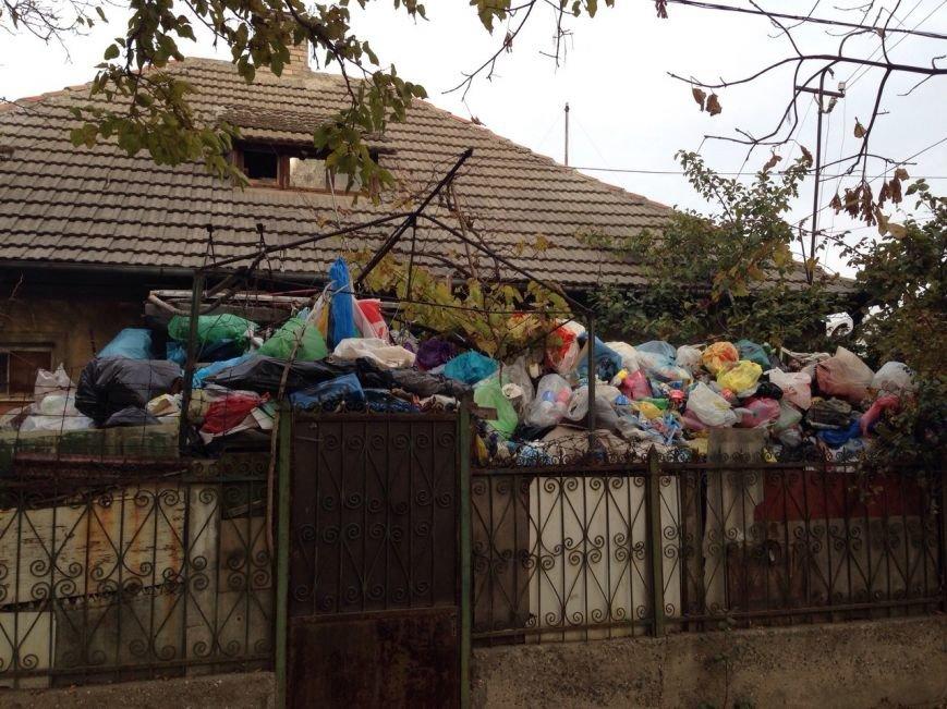 Под Одессой Плюшкин засыпает свой дом горами мусора (ФОТО) (фото) - фото 1