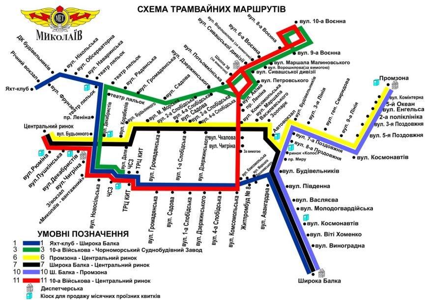Николаев транспортный: опубликована новая схема движения трамваев и троллейбусов (ФОТО) (фото) - фото 4