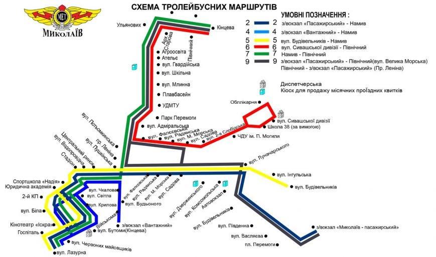 Николаев транспортный: опубликована новая схема движения трамваев и троллейбусов (ФОТО) (фото) - фото 3