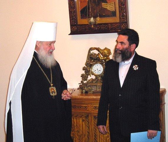 2007-06-18 Валерий Кауров с будущим патриархом Кириллом