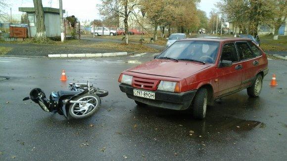 ДТП в Александрии: «девятка» не уступила дорогу мотоциклу. ФОТО (фото) - фото 1