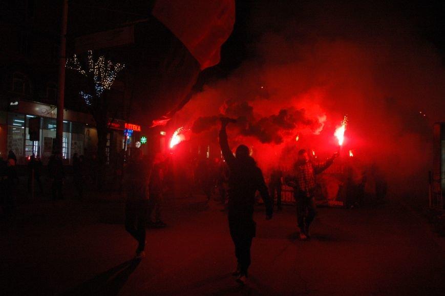 На марше «Азова» в Запорожье жгли фаера и флаги, - ФОТОРЕПОРТАЖ, фото-6