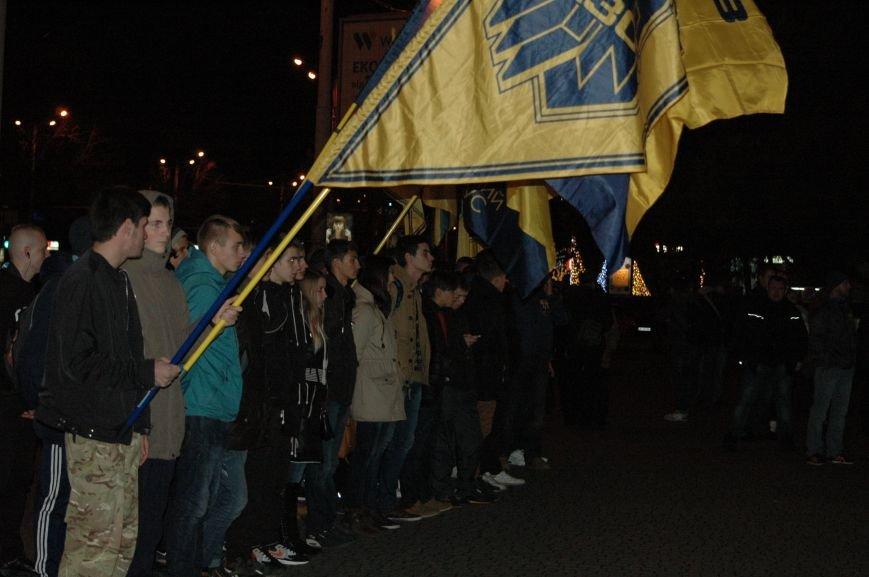 На марше «Азова» в Запорожье жгли фаера и флаги, - ФОТОРЕПОРТАЖ, фото-3