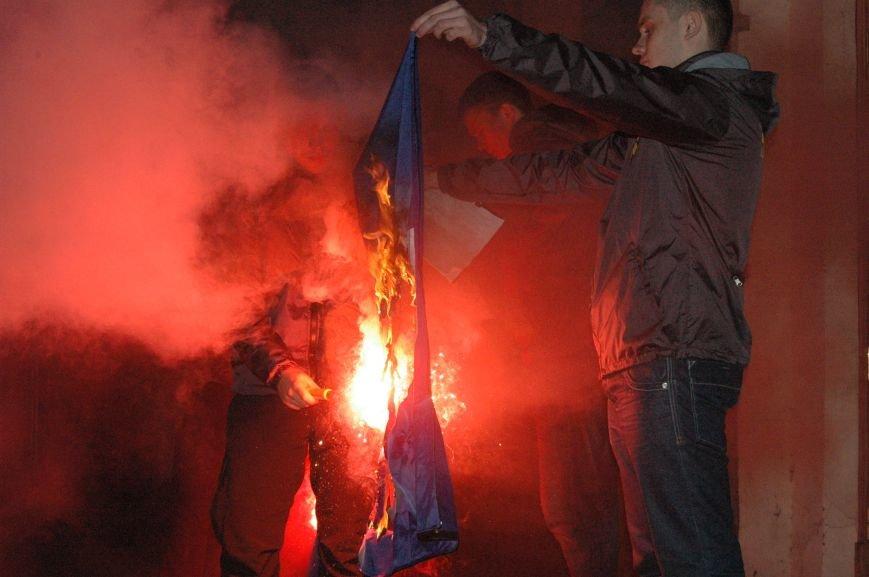 На марше «Азова» в Запорожье жгли фаера и флаги, - ФОТОРЕПОРТАЖ, фото-11