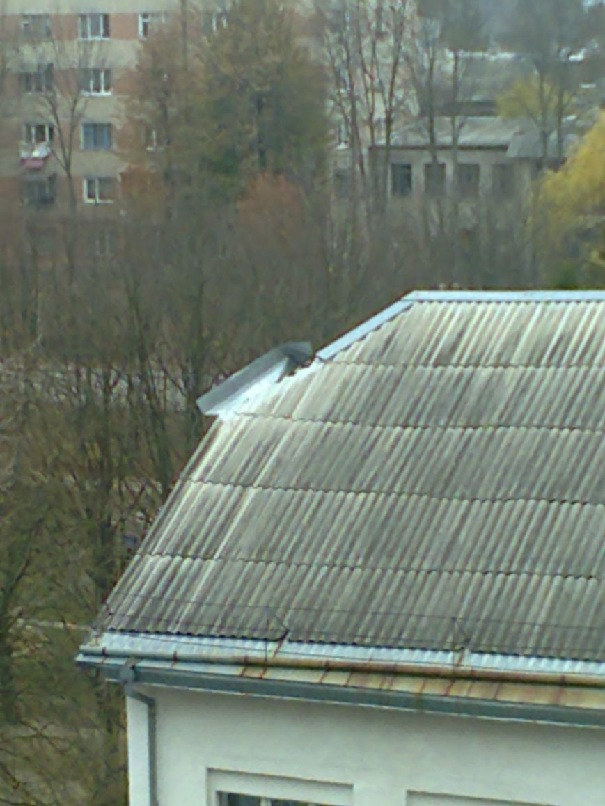 З даху тернопільської школи обвалюється частина бляхи (фото) - фото 1