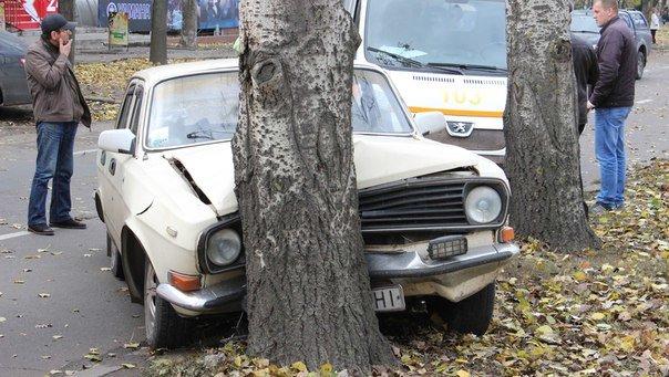 В Николаеве Волга протаранила дерево (ФОТО) (фото) - фото 3