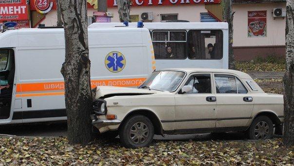 В Николаеве Волга протаранила дерево (ФОТО) (фото) - фото 1