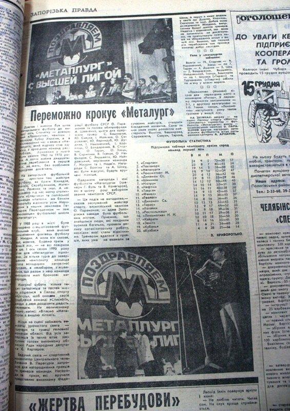 Пресса прошлых лет: поднятие бригантины, триумф «Металлурга» и траур по Брежневу (фото) - фото 5