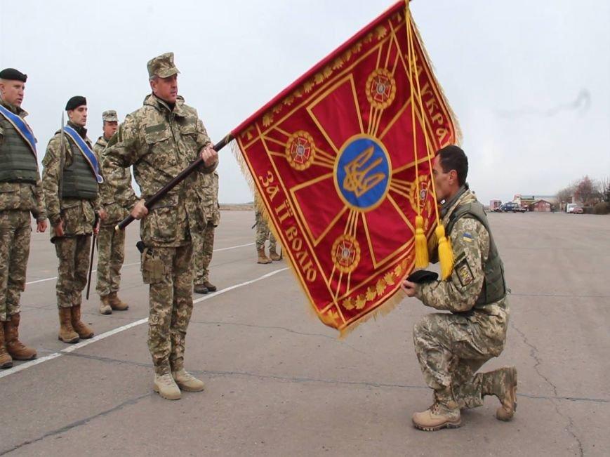 Морпехам, защищающим Мариуполь, вручили боевой флаг (ФОТО), фото-7