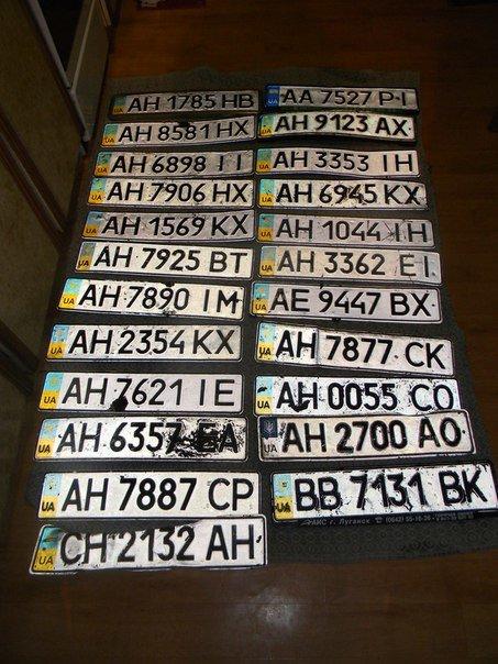 Мариупольцы теряли из-за стихии автомобильные номера (фото) - фото 1