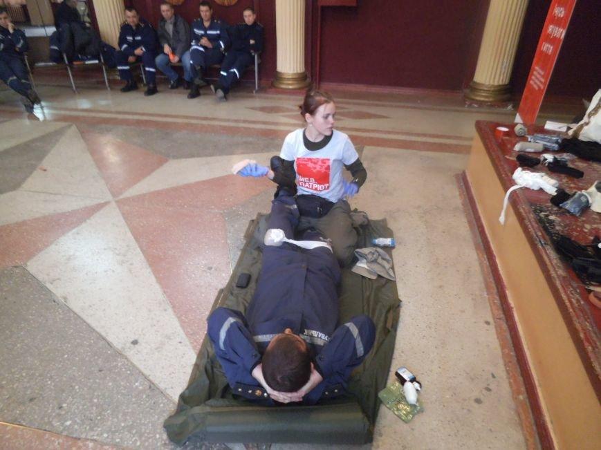 Патриоты учили краматорских спасателей оказывать доврачебную помощь (фото) - фото 3