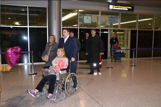 Постраждала від вибуху інспектор поліції Надія Андрухів повернулася додому