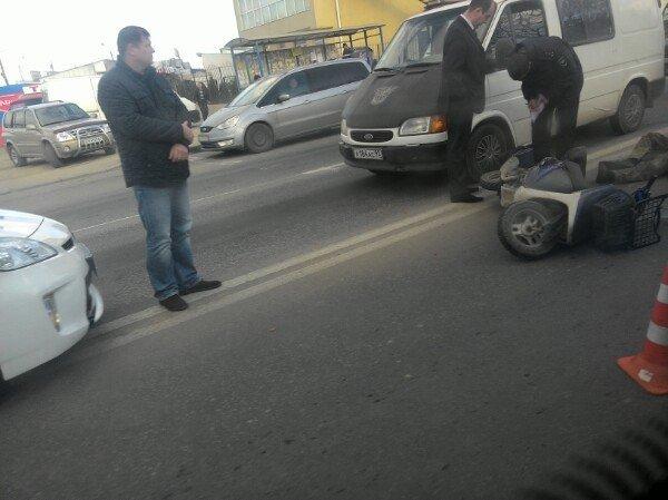 ДТП в Севастополе: погиб мопедист, байкер в реанимации, разбиты машины (ФОТО, ВИДЕО) (фото) - фото 1