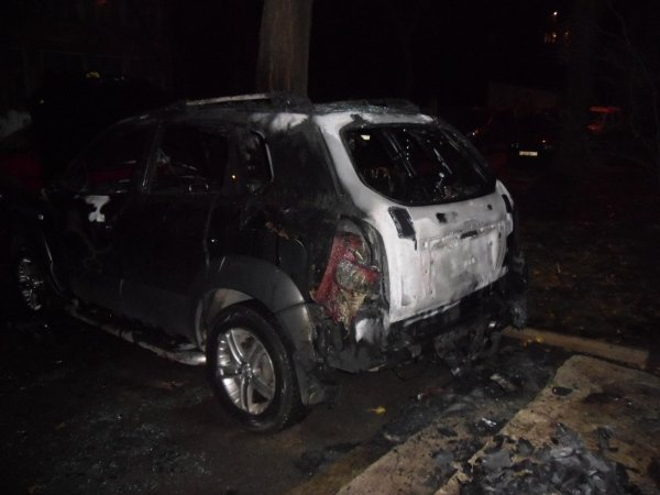 В Киеве на Урловской подожгли автомобиль (ФОТО) (фото) - фото 1