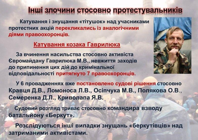 ГПУ обнародовала результаты расследований против Майдана (ИНФОГРАФИКА) (фото) - фото 1