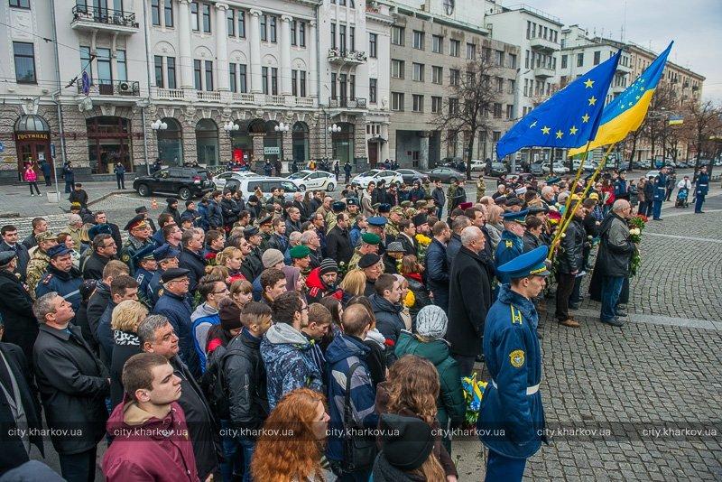 Харьковчане отметили День достоинства и свободы Украины (ФОТО) (фото) - фото 1