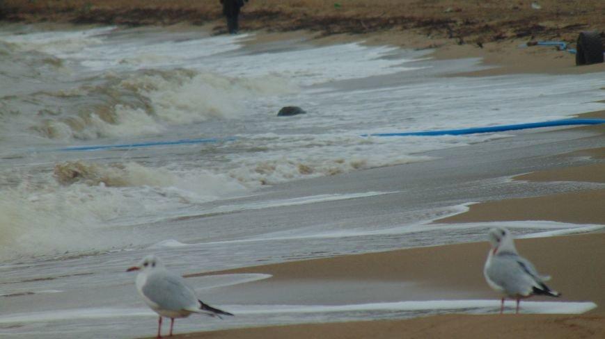 Море напало на мариупольское побережье, захватило пляж, повредило коммуникации (ФОТОФАКТ) (фото) - фото 1