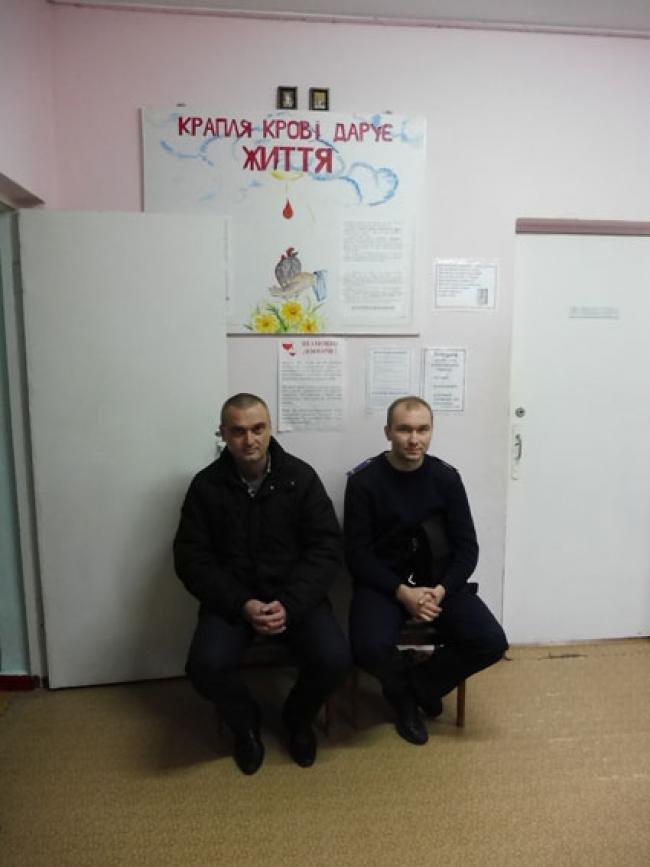 Полицейские Черниговской области сдали кровь на лечение своих коллег из зоны АТО, фото-3