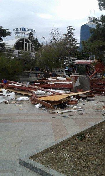 В Ялте демонтирован Туристическо-информационный центр (фото) - фото 2