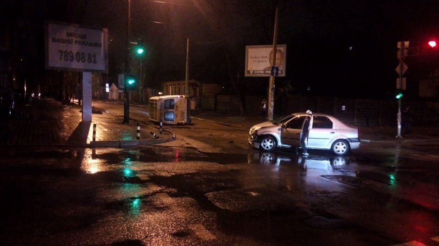 Ночное ДТП в Днепропетровске. Такси столкнулось с легковушкой (ФОТО), фото-2