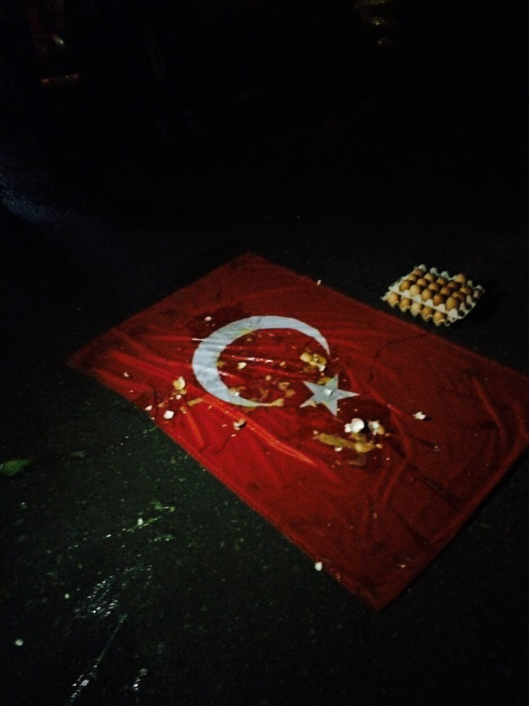 В Ульяновске турецкий флаг забросали яйцами (фото) - фото 1