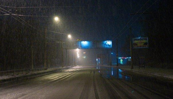 Ночью Краматорск накрыло снегом (ФОТО) (фото) - фото 6