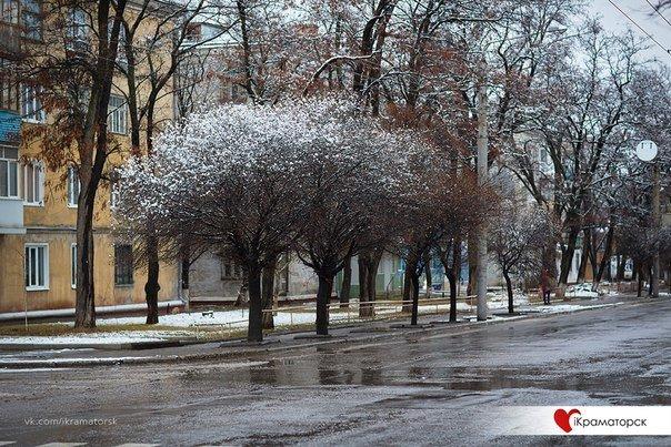 Ночью Краматорск накрыло снегом (ФОТО) (фото) - фото 12