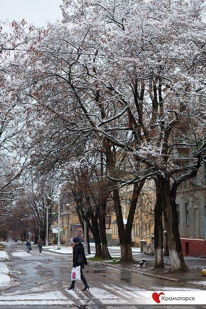 Ночью Краматорск накрыло снегом (ФОТО) (фото) - фото 14