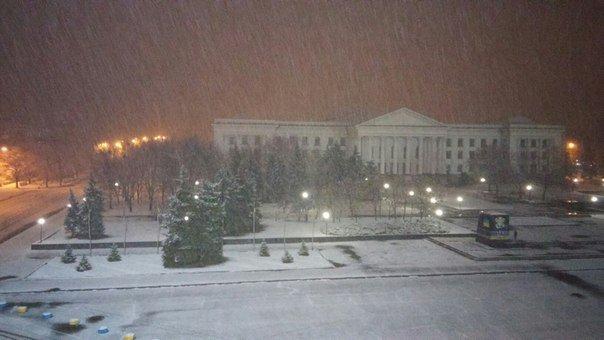 Ночью Краматорск накрыло снегом (ФОТО) (фото) - фото 4