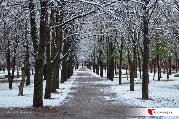 Ночью Краматорск накрыло снегом (ФОТО) (фото) - фото 13