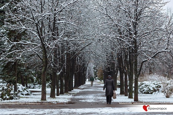 Ночью Краматорск накрыло снегом (ФОТО) (фото) - фото 18