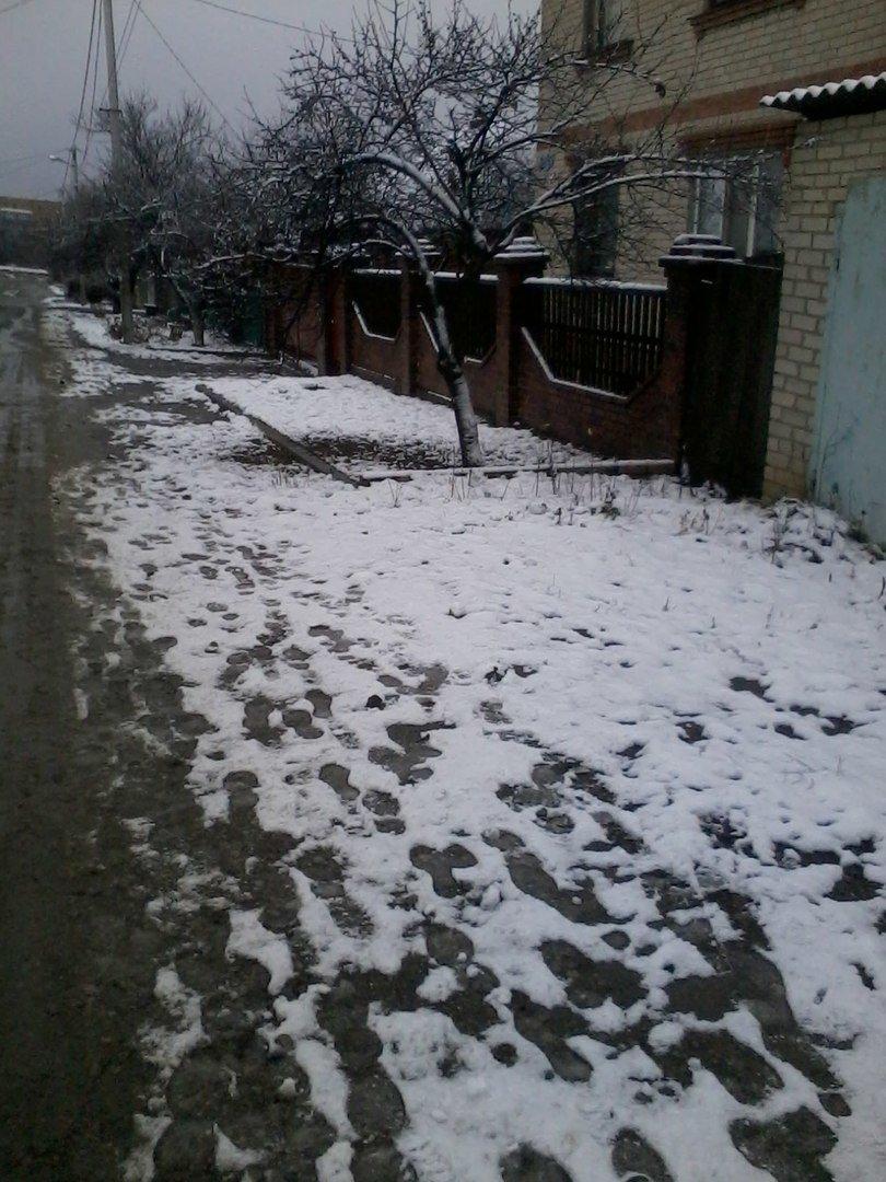 С первым снегом, Славянск! (фото) - фото 1