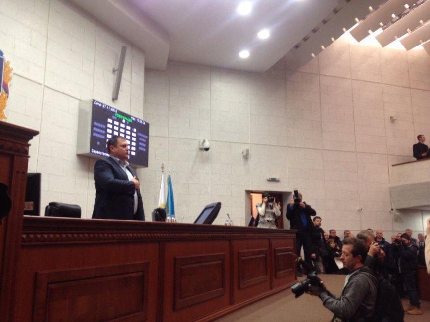 Первая сессия: новоизбранные депутаты Днепропетровского горсовета вступают в права, фото-7