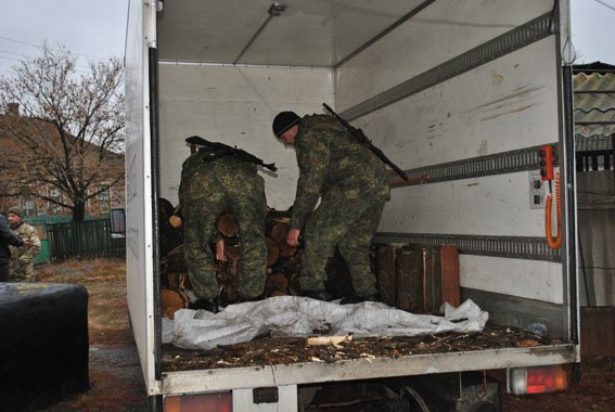 Волновахские полицейские помогли дровами жительнице Гранитного (фото) - фото 1