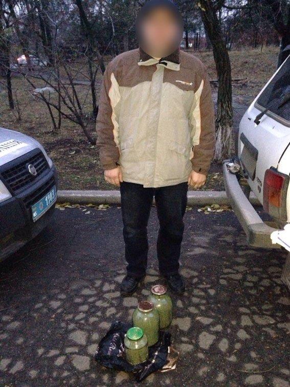 Мариуполец «закатал» в трехлитровые банки коноплю марихуану (ФОТО) (фото) - фото 1