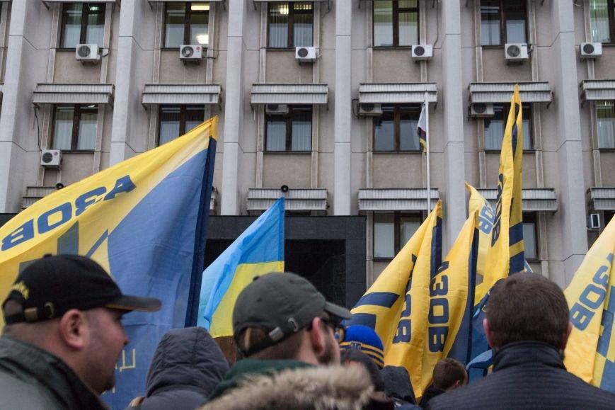 42645a19f12a40abde381fdf8f1d0423 Активисты «АЗОВА» нанесли «вежливый» визит Одесскому облсовету