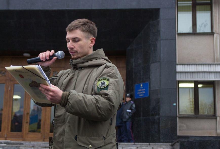 a14531a549c24af0ecc0dc49735816fc Активисты «АЗОВА» нанесли «вежливый» визит Одесскому облсовету