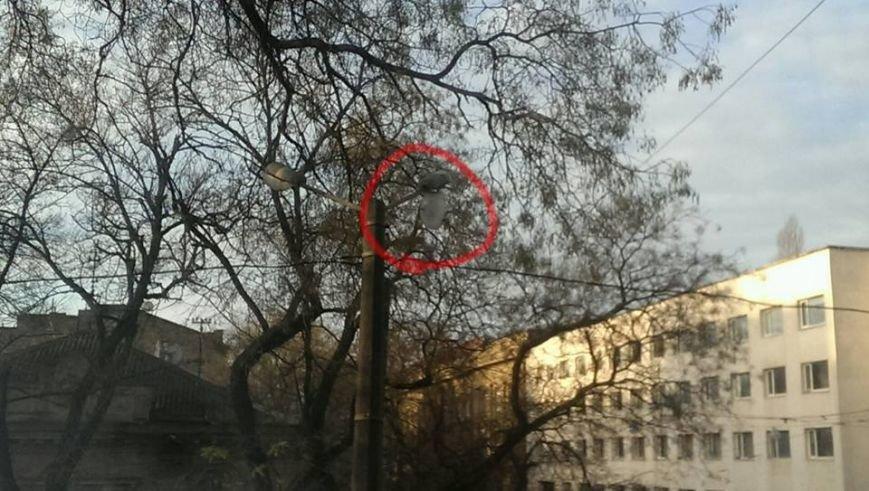 В центре Одессы плафон фонаря может пришибить кого-то (ФОТО) (фото) - фото 1