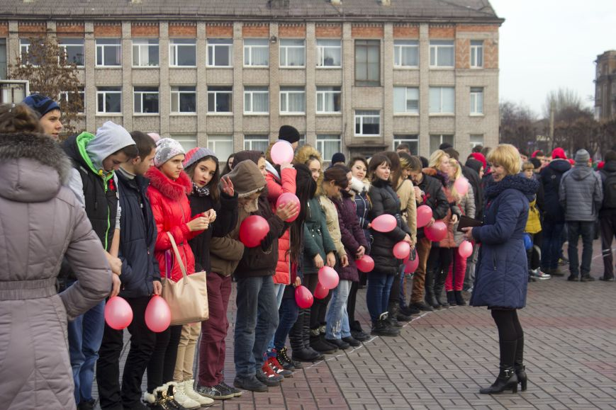 Студенты Днепродзержинска провели акцию «Молодежь против СПИДа», фото-1