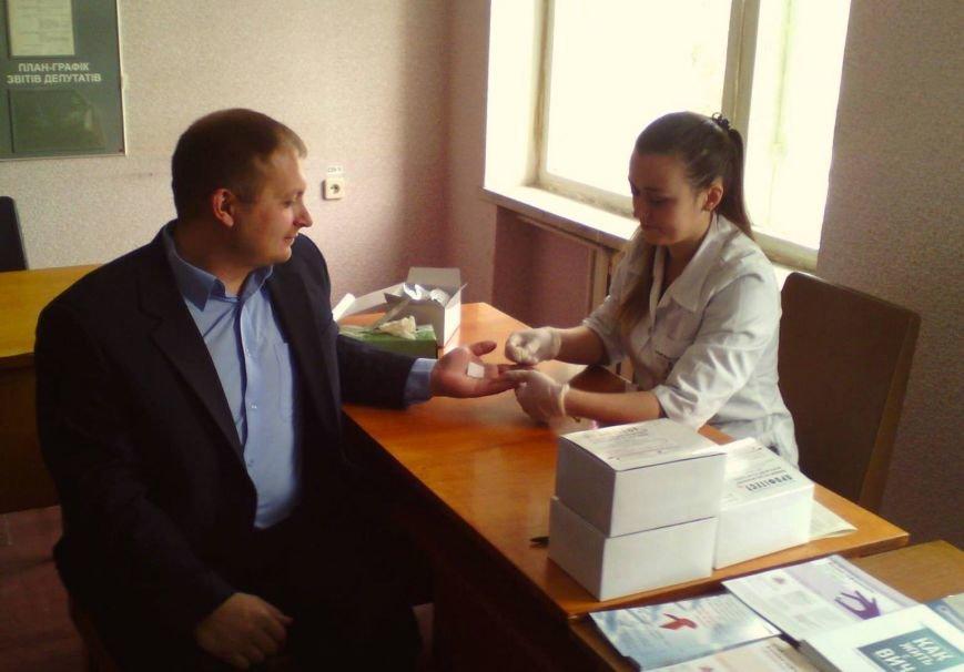 Мер Конотопа пройшов тестування на СНІД у Конотопській міській раді, фото-1